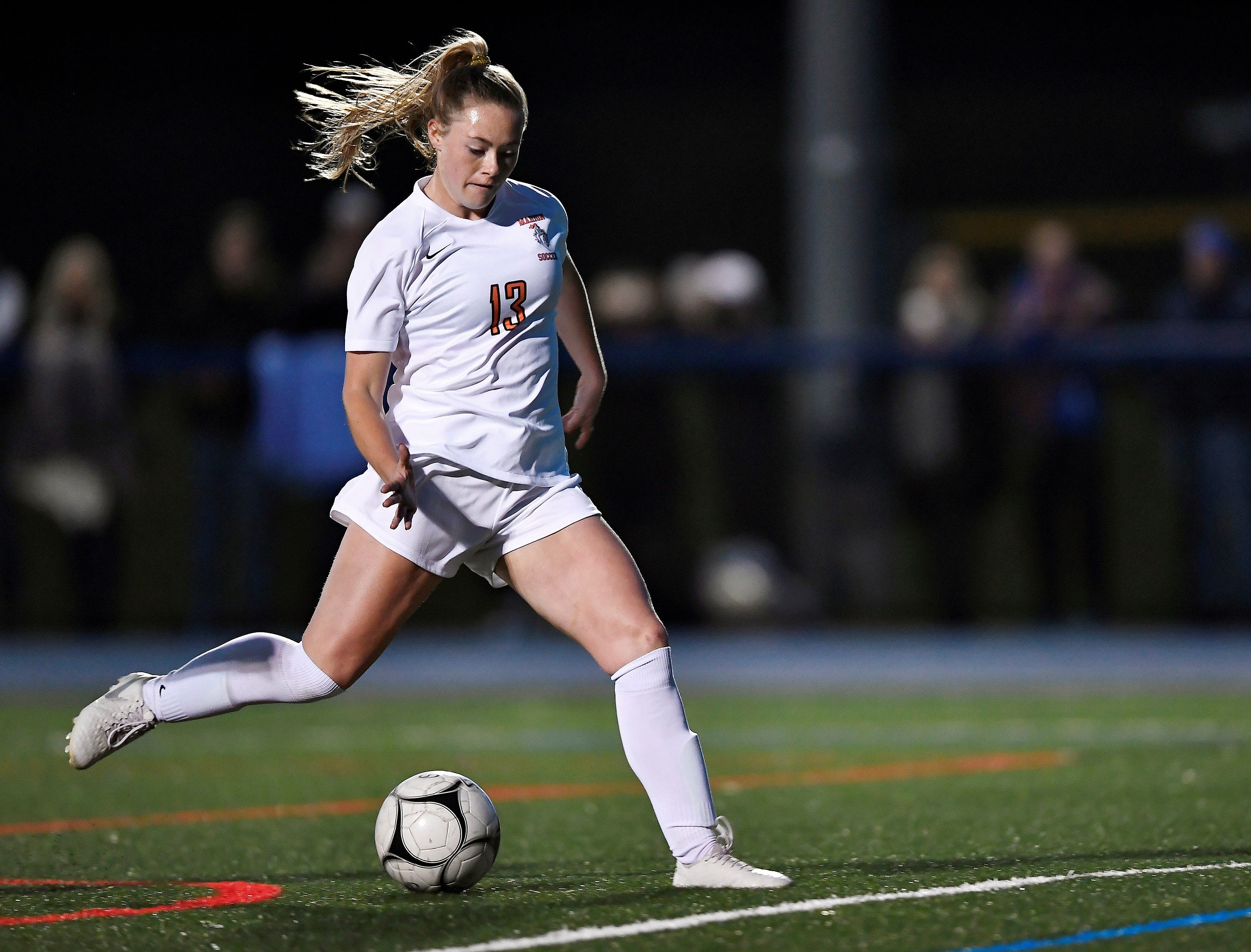 New York high school soccer star Chloe DeLyser breaks national record for career goals