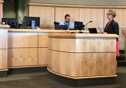 Dr. Karen Ramstrom, Shasta County's medical officer, talks to supervisors on Tuesday, Oct. 15, 2019, about the effects vaping has on children.