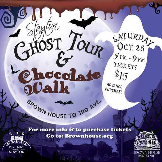 The third annual Stayton Ghost Tour and Chocolate Walk is coming up Oct. 26 in downtown Stayton.