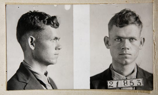 One of Jennings Young's booking photos.