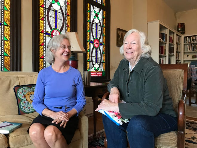 Muffie Newell and Carter Hannah form Staunton's first Memory Cafe at Trinity Episcopal Church in Staunton, a place for anyone with dementia or memory changes and their caregivers to remain socially engaged with others. Photographed on Friday, Oct. 11, 2019.