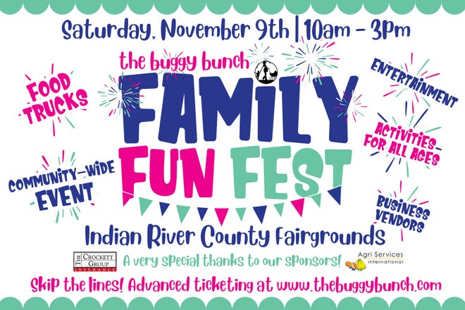 The Buggy Bunch Family Fun Fest,coming to the Indian River County Fairgrounds on Nov.9, is a newcommunity-wide event for all ages promoting Vero Beach'sbest in entertainment, businessand activities.