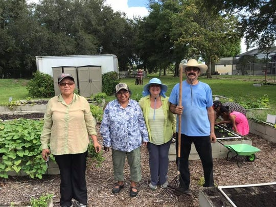 Volunteers take care of the Indiantown Community Garden, a nominee of a 2019 Keep Martin Beautiful Environmental Stewardship Award.