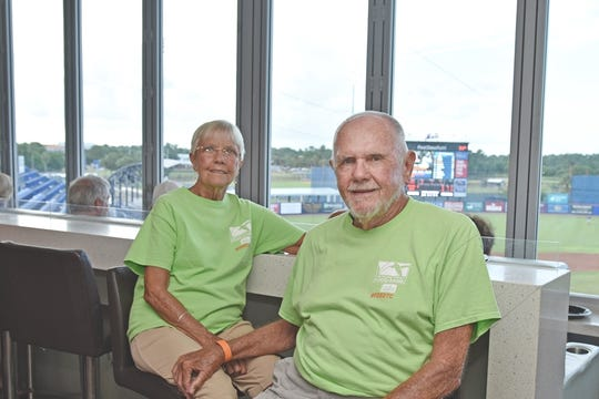 Treasure Coast Food Bank supporters Vicki and Bill Heidrich enjoy the game at Strike Out Hunger on Aug. 22, 2019 at First Data Field in Port St. Lucie.