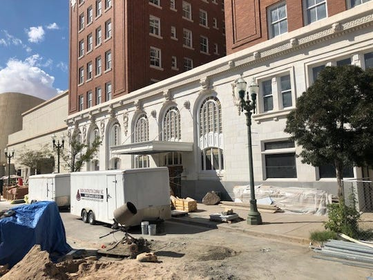 Renovation continues at the historic Hotel Paso Del Norte in Downtown El Paso. The hotel website has a March opening.