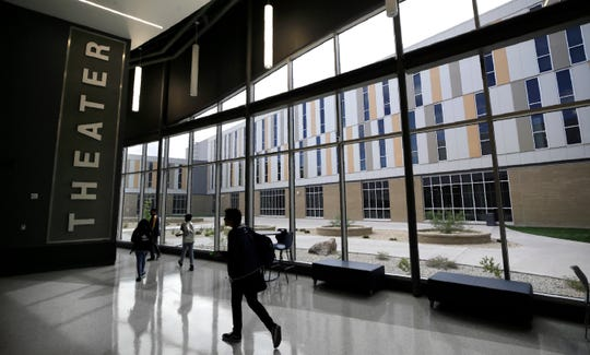 Big windows and lots of light are a recurring theme of the new Eastwood High School.