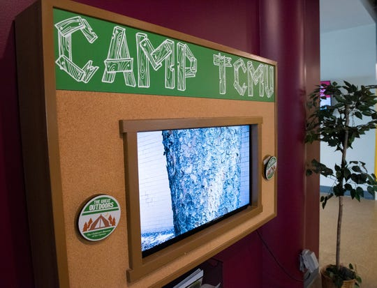 A video display in the new outdoor exhibit at The Children's Museum of the Upstate in Greenville.