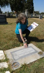 Local historian Dallas Pattee investigates the grave of Edmond Wysinger for the script she has written for Tales From The Tomb.