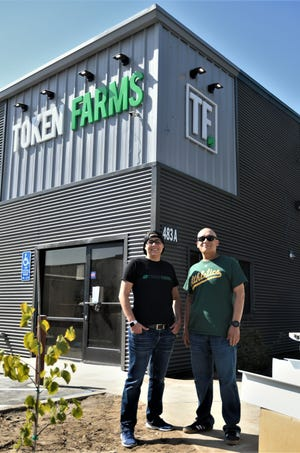 Jennifer Mendonca and Anthony Rosales are set to open Farmersville's Token Farms on Oct. 25, 2019.