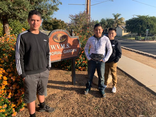 Woodlake Valley Middle School 8th-graders Mario Jiminez, Andrew Villegas and Landon Gamez were honored by TCOE's CHARACTER COUNTS! program after they found a wallet and returned it to its owner.