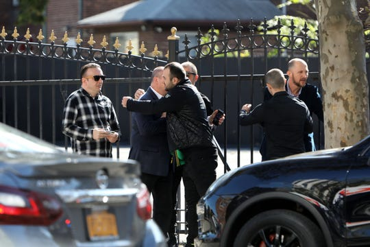 Mourners attend the wake of Altin Nezaj, a Pearl River High School senior, at F. Ruggiero & Sons Funeral Home in Yonkers Oct. 15, 2019. Nezaj died in a car crash on Route 304 in Pearl River.