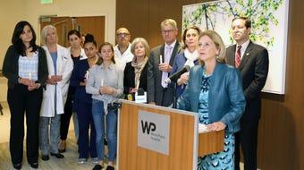New York State Senator Shelley Mayer and Assemblyman David Buchwald seek tax credits for sillborns.