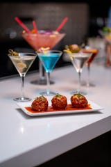 Meatballs and martinis are on the menu at the new Jerry Longo's at Dover Downs. The restaurant is open Wednesdays through Sundays.
