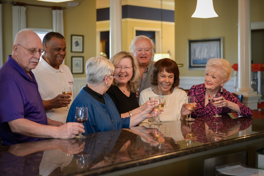 Happy hour with your neighbors.