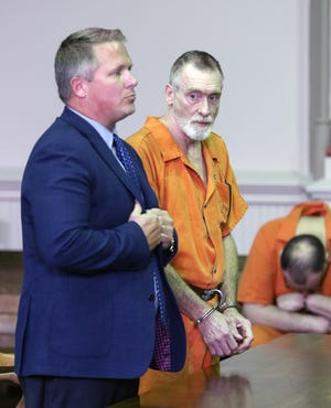 John Allen pleaded guilty to two counts of trespassing and two counts of violating a protection order. His attorney Joshua Hall requested a bond reduction for his client, stating Allen is ill.