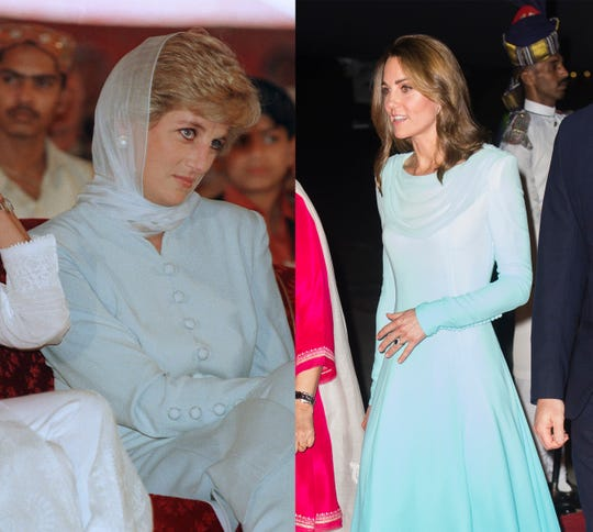 Duchess Kate channels Princess Diana during Pakistan tour with similar styles
