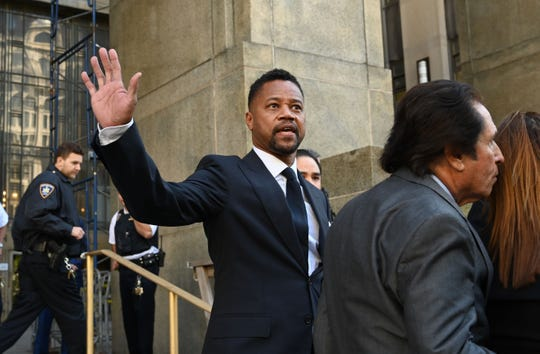 Cuba Gooding Jr. departs his arraignment in New York on Oct. 15, 2019, on a second charge of sexual misconduct. He pleaded not guilty.
