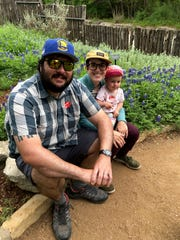 Jim and Halie Casey, shown here with their 2-year-old daughter near their home in Austin, Texas, originally hail from San Jose, California. But more affordable housing and a better work-life balance prompted Halie Casey to transfer with Apple to the tech company's new Austin campus.