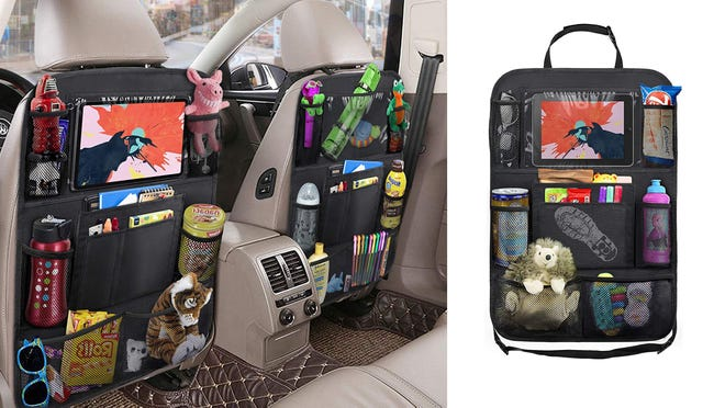 It can be adjusted to fit any size or style of car seat.