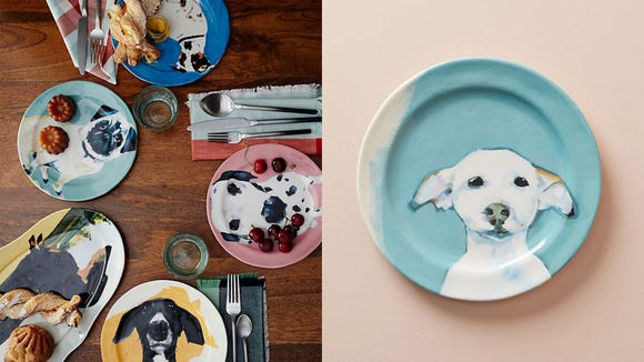 Best unique gifts 2019: Anthropologie Dog-a-Day Dessert Plate