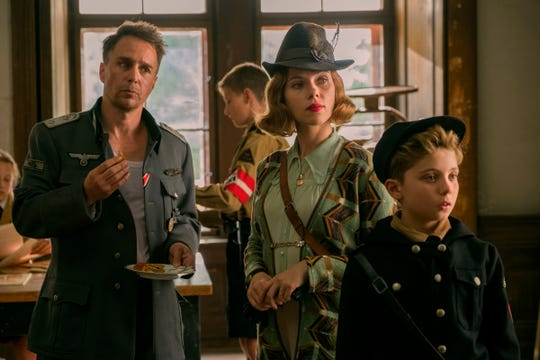 "Scarlett Johansson plays a German mother worried over her son's adoration of Hitler in the WWII satire ""Jojo Rabbit."""