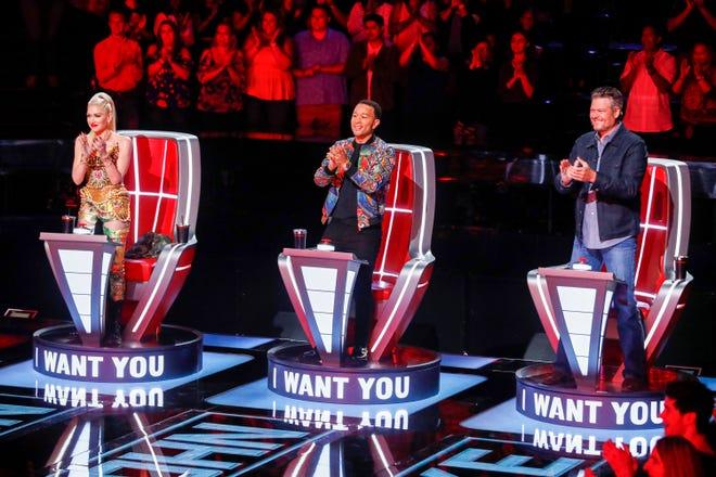 """Gwen Stefani, John Legend, Blake Shelton on """"The Voice."""""""