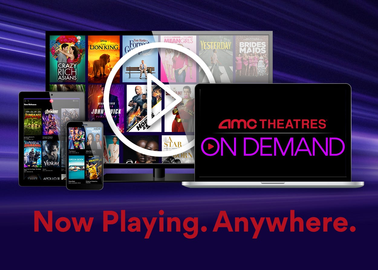 Amc Theatres Launches On Demand Movie Streaming Service