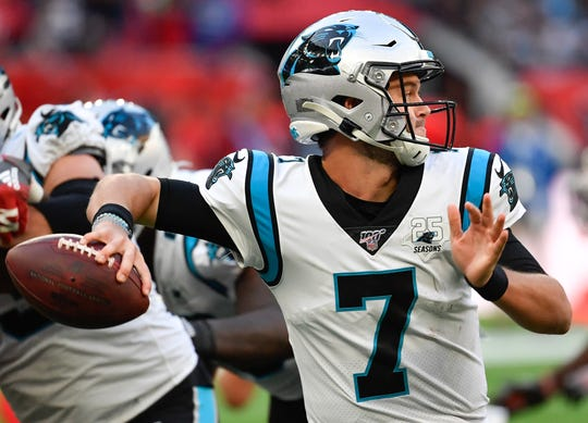 12. Panthers (17): Kyle Allen has won in Arizona, Houston, Charlotte and London this season. The big question now is, has he permanently won Cam Newton's job?