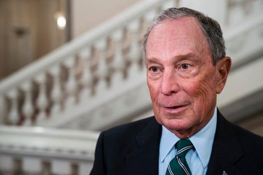 Former New York Mayor Michael Bloomberg arrives at the World Mayors Summit in Copenhagen, Denmark, in October 2019.