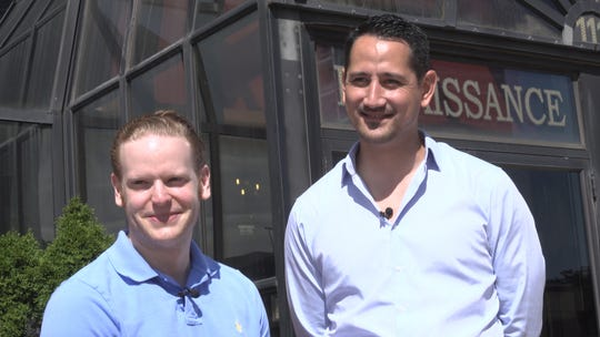 Brian Nielson, right, helped Eliot Fuchs land a condo in Newark, New Jersey, after seven months of searching and placing bids on various homes.