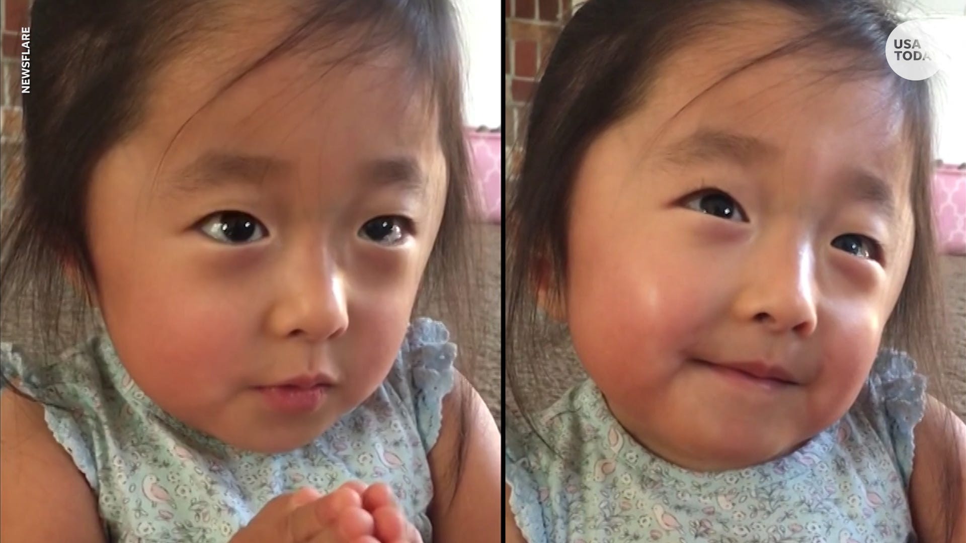 Sweet girl tells adoptive mom her  heart fell in love  the first time they met