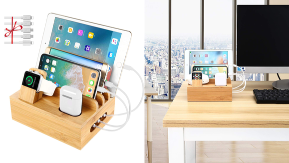 Best gifts for dad 2019: Bamboo Charging Station