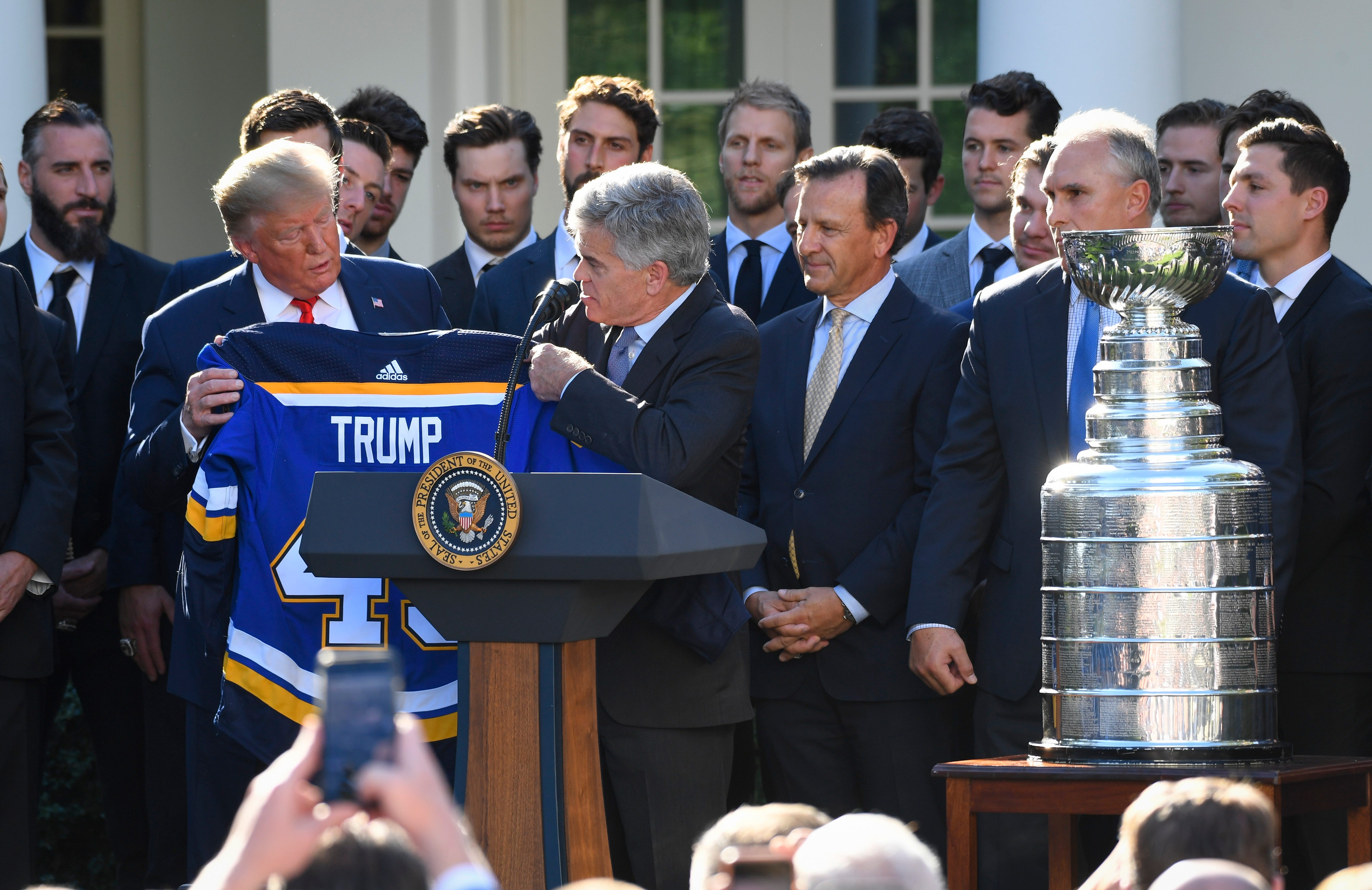 President Trump welcomes 2019 Stanley Cup Champions St. Louis Blues to the White House