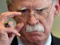 Then-national security adviser John Bolton answers journalists questions in Minsk, Belarus, on Aug 29. 2019.