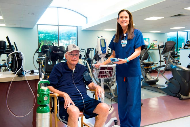 Dennis Bulmer appreciates the personal attention he receives from the caregivers at Monmouth Medical Center's Joel Opatut Cardiopulmonary Rehabilitation Center.