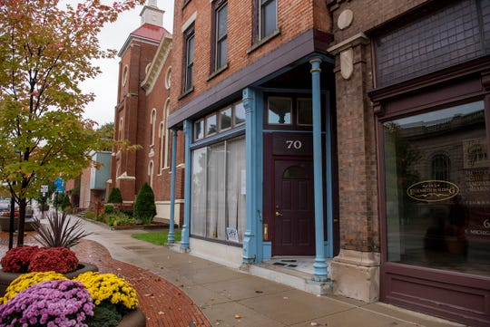 70 E. Michigan Ave. is pictured Wednesday morning on Oct. 16, 2019 in downtown Battle Creek, Mich. Couple Jeff and Sarah Versical purchased the historical building in May to renovate into affordable housing, an issue of accessibility realized during their search to move downtown and into the heart of a city they love.