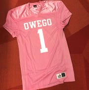 Owego Free Academy's football team will wear pink jerseys Friday evening during a match against Maine-Endwell for Pink Out Night, a fundraiser for Traci's Hope.