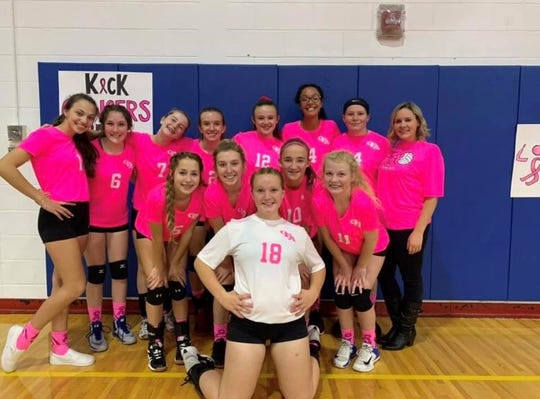 Owego Free Academy's volleyball team held a Pink out Night Tuesday evening to raise funds for Traci's Hope.