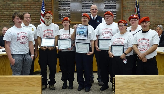 Bucyrus police Chief David Koepke recognized members of the city's Guardian Angels chapter for their efforts to make the city's streets safer during Tuesday's Bucyrus City Council meeting.