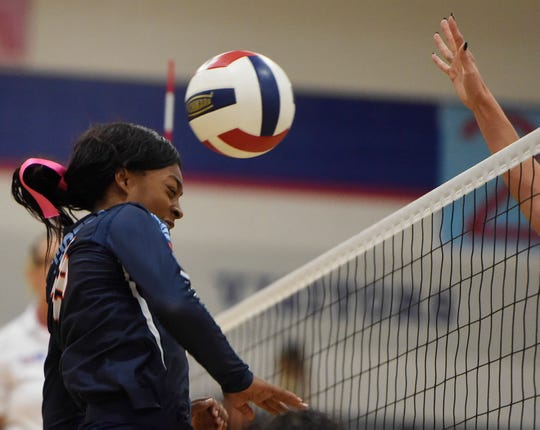 Carroll faces Veterans Memorial in a 15-5A Division I volleyball match, Tuesday, Oct. 15, 2019, at Veterans Memorial.