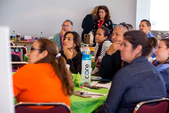 Parents attend a Texas Association for Bilingual Education annual conference on Wednesday, October 16, 2019 at the American Bank Center.