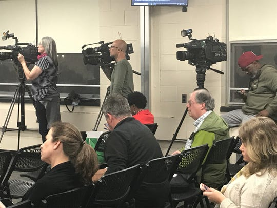 A Cherry Hill school board meeting on Tuesday night drew about as many media members as it did residents.