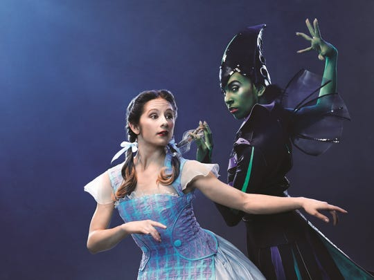"The Cincinnati Ballet cast of Septime Webre's production of ""The Wizard of Oz"" includes principal dancer Melissa Gelfin, left, as Dorothy and first dancer Maizyalet Velázquez as the Wicked Witch."