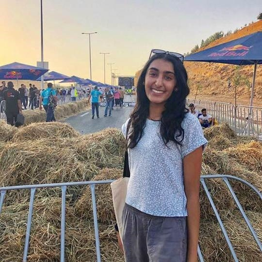 Manvi Sinvhal, a junior at J.P. Stevens High School, was selected as a finalist for the Kennedy-Lugar Youth Exchange and Study (YES) Abroad scholarship and is spending the 2019-2020 school year overseas in Jordan's capital city, Amman.