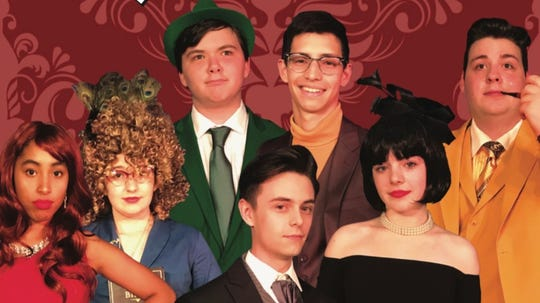 """Union Catholic Performing Art Company's cast of """"Clue on Stage."""""""