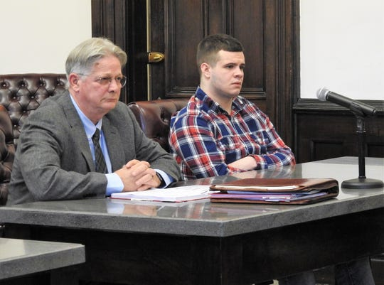 Attorney Jeff Kellogg and client Bryan M. Whiteus appeared Coshocton County Common Pleas Court this week for sentencing. Whiteus received 17 months in prison and will have to register as a Tier II sex offender after pleading guilty to one count of unlawful sexual conduct with a minor.