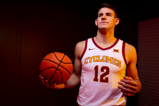 Iowa State redshirt senior forward Michael Jacobson poses for a photo during media day for Iowa State mens basketball on Wednesday, Oct. 16, 2019 in Ames.