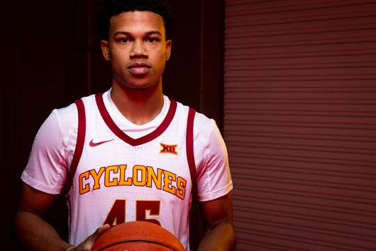 Iowa State sophomore guard Rasir Bolton poses for a photo during media day for Iowa State mens basketball on Wednesday, Oct. 16, 2019 in Ames.