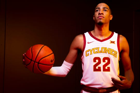 Iowa State sophomore guard Tyrese Haliburton poses for a photo during media day for Iowa State mens basketball on Wednesday, Oct. 16, 2019 in Ames.