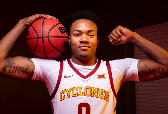 Iowa State sophomore forward Zion Griffin poses for a photo during media day for Iowa State mens basketball on Wednesday, Oct. 16, 2019 in Ames.